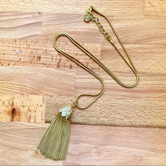 Lilly Pulitzer Gold Metal Tassel Necklace